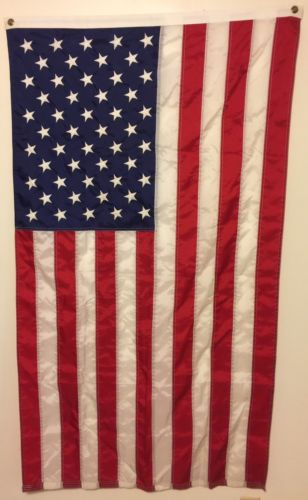 American Flag USA US U.S. Sewn Stripes Embroidered Stars Brass Grommets 34