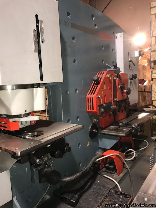 SLIGHTLY USED DURMA IW80/150 IRONWORKER