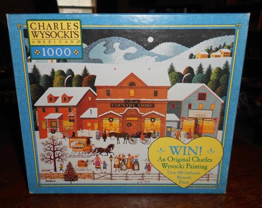 milton bradley charles wysocki's 1000pc puzzle christmas eve