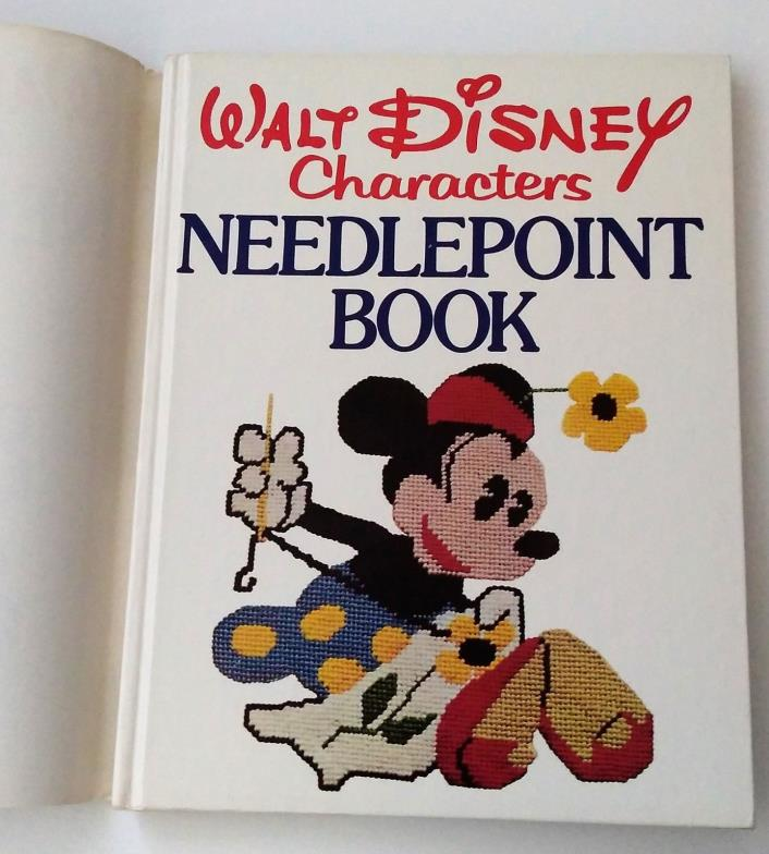 Vintage Mickey Mouse Needlepoint Book