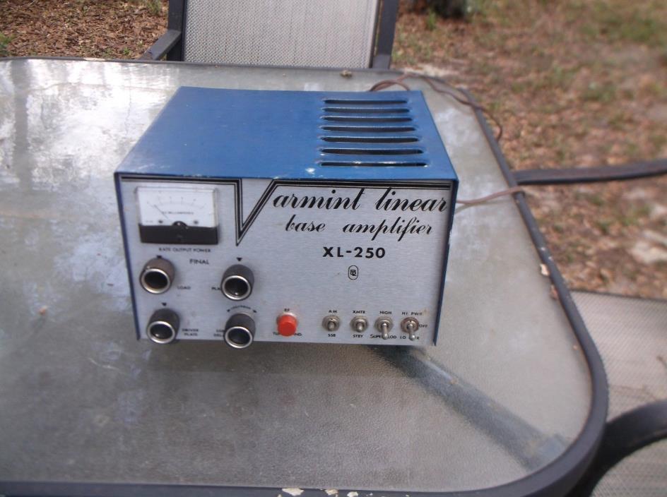 varment xl 250 ham radio amplifier 10 meter amplifier tubes replaced works good