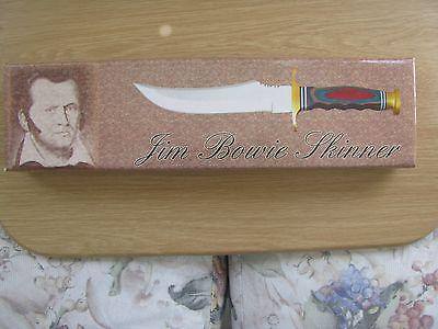 JIM BOWIE SKINNER Hunting knife W/Sheath  in Box  SEE PICS