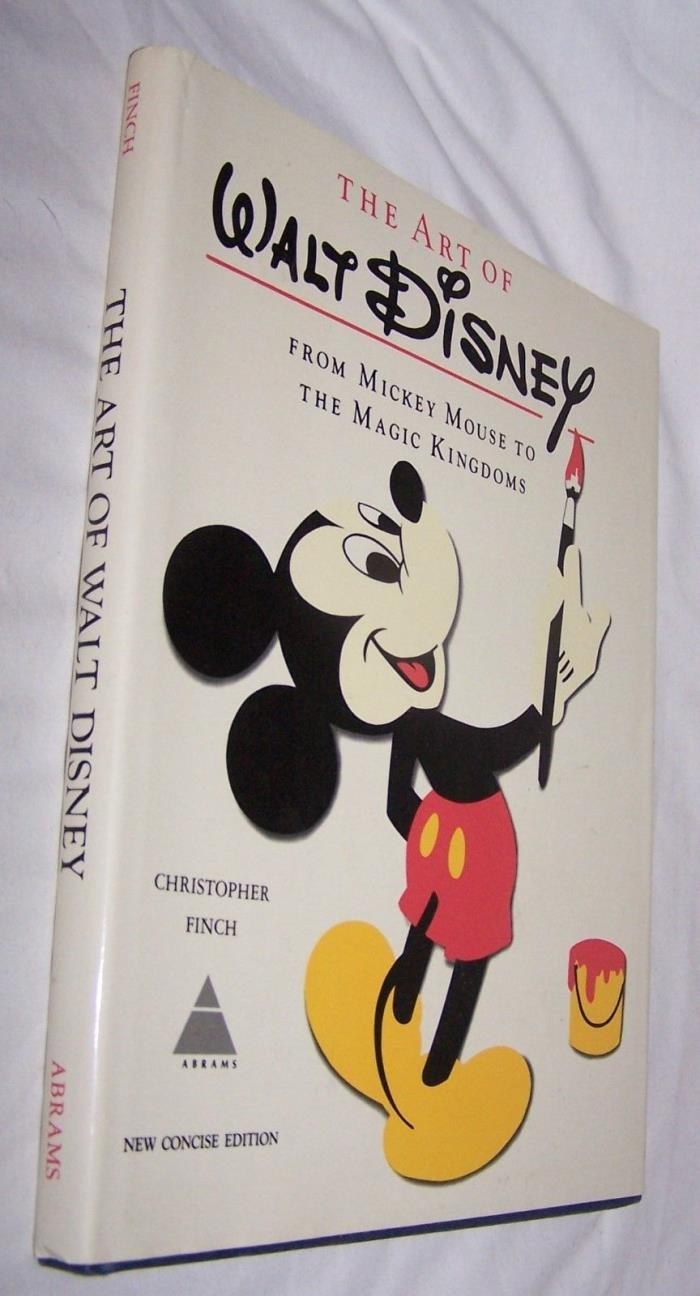 Art of Walt Disney-Mickey Mouse to Magic Kingdoms HB book w/dj-by Finch-1975