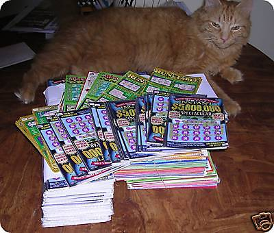 $1000 Bags of 2016 losing N.Y. lottery scratch off tickets. LAST 7 bags  avail