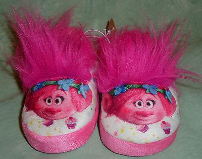 Trolls Slippers Pink Girls M Cupcake 7/8 New NWT Non-Slip