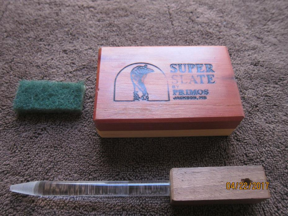 Vintage Primos Super Slate Turkey Call, In Excellent Condition Nice Turkey Sound
