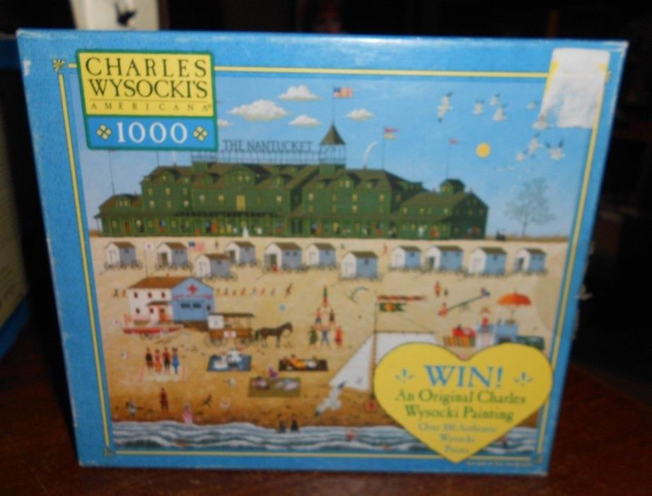 milton bradley charles wysocki's 1000pc puzzle the nantucket