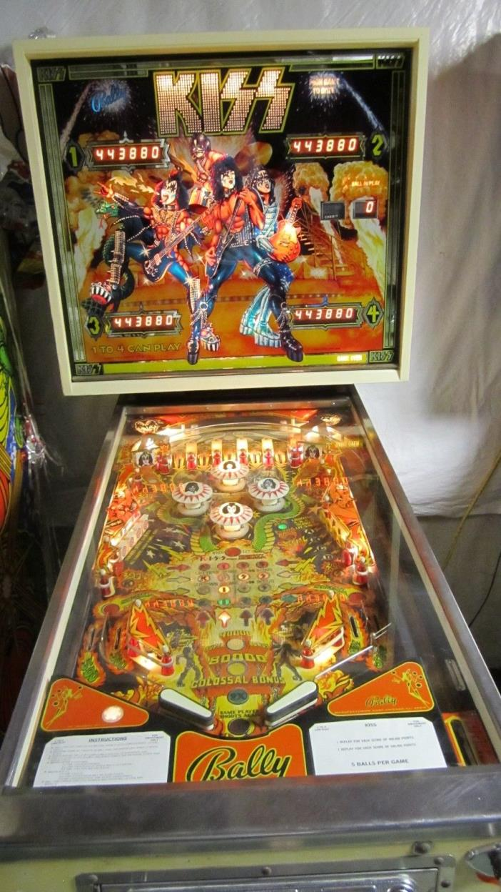 KISS  1978 Vintage Bally Pinball Machine   LOCAL PICKUP ONLY