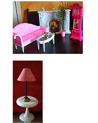 BARBIE DOLL SIZE LIVING ROOM SET - Gloria