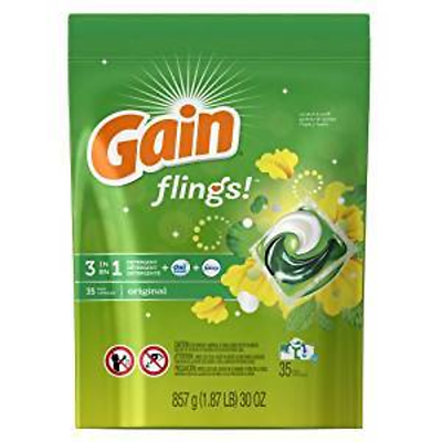 GAIN GROCERY LAUNDRY DETERGENT FLINGS 31 CT