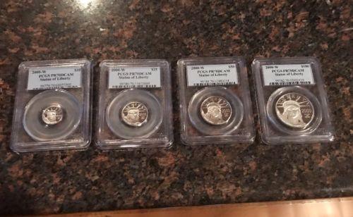 US 2000-W Four Coin Platinum Eagle Set, PCGS PR 70 DCAM