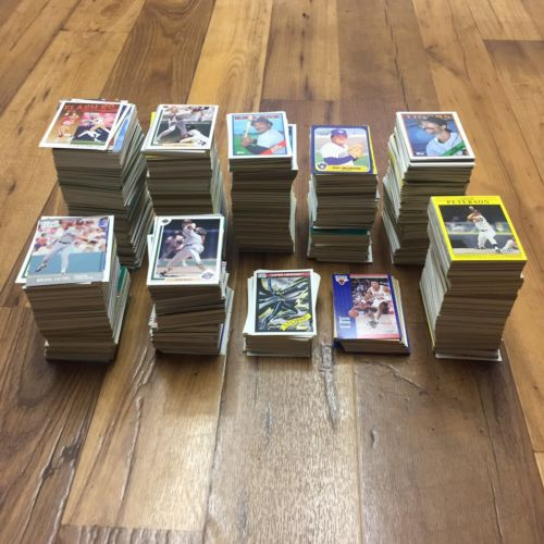 Vintage 1985-1993 Lot Of 1500+ Cards MLB NBA NFL Marvel Comics Fleer Topps