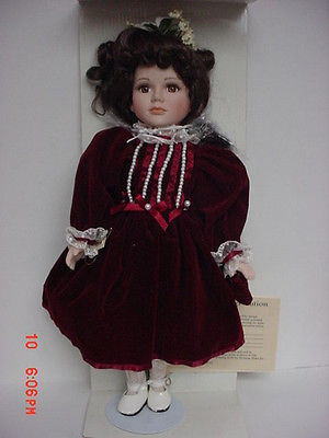 SEYMOUR MANN PORCELAIN DOLL CONNOISEUR COLLECTION 7500 LTD EDITION KERRY W/COA