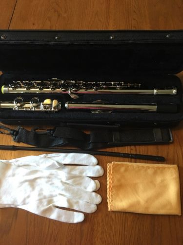 Bentoni 16 Keys Nickel Plated Closed Hole C Flute w Case Rod Gloves E4
