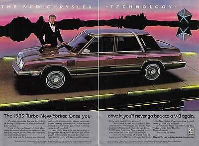 1985 Chrysler New Yorker: Ricardo Montalban, 2 Page Ad (12657)