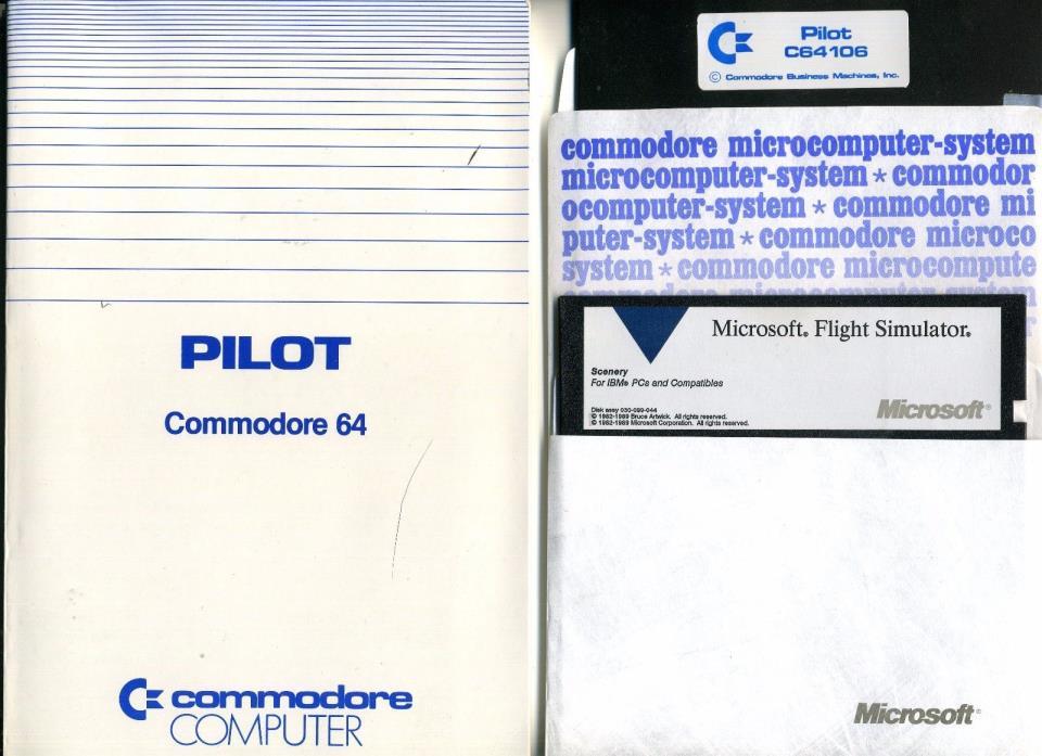 Commodore 64 Pilot Flying Simulator & Manual Plus Microsoft Flight Simulator