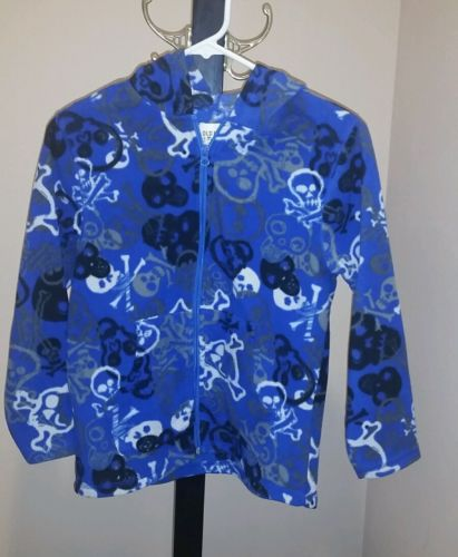 Old Navy zip up fleece skulls size medium 8