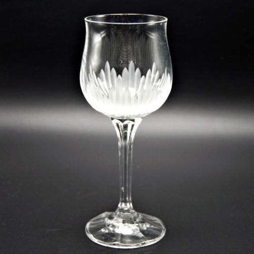 Bohemia Crystal Brighton 6 7/8 Wine Glass Frosted Grey Cut 6 oz 522111