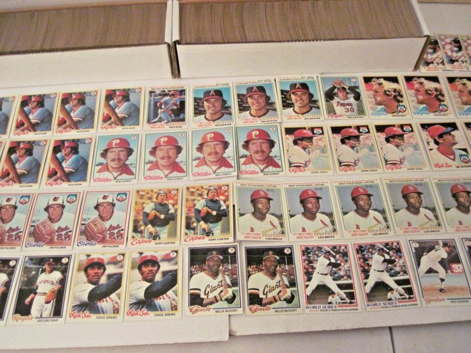Lot of (4,000) 1978 Topps Baseball Cards with Stars Card Good / Near Mint - Cond