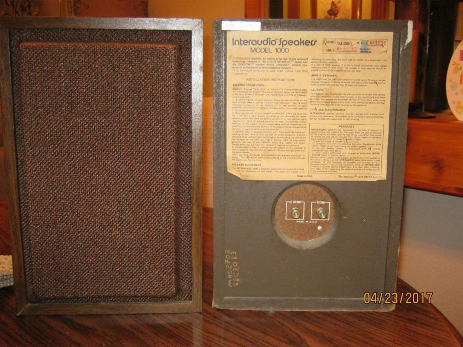 Vintage Bose Interaudio Shelf Speakers