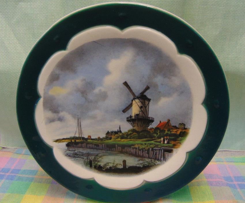 Dutch Windmill Scene Wall Pocket Royal Copley 8
