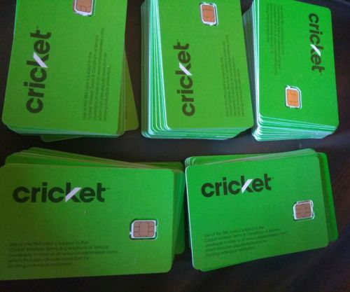 Lot of 25 NEW CRICKET MICRO SIM CARD 4G LTE GSM PHONES BRAND NEW