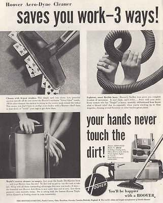 1952 Hoover Aero-Dyne Cleaner: Hands Never Touch (17951)