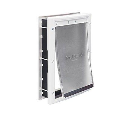 PetSafe Plastic Doors Pet Door with Soft Tinted Flap, White, Medium