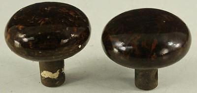 Vintage Architecture Metal Brown & Black Swirl COMPOSITE Round 2PC Doorknob