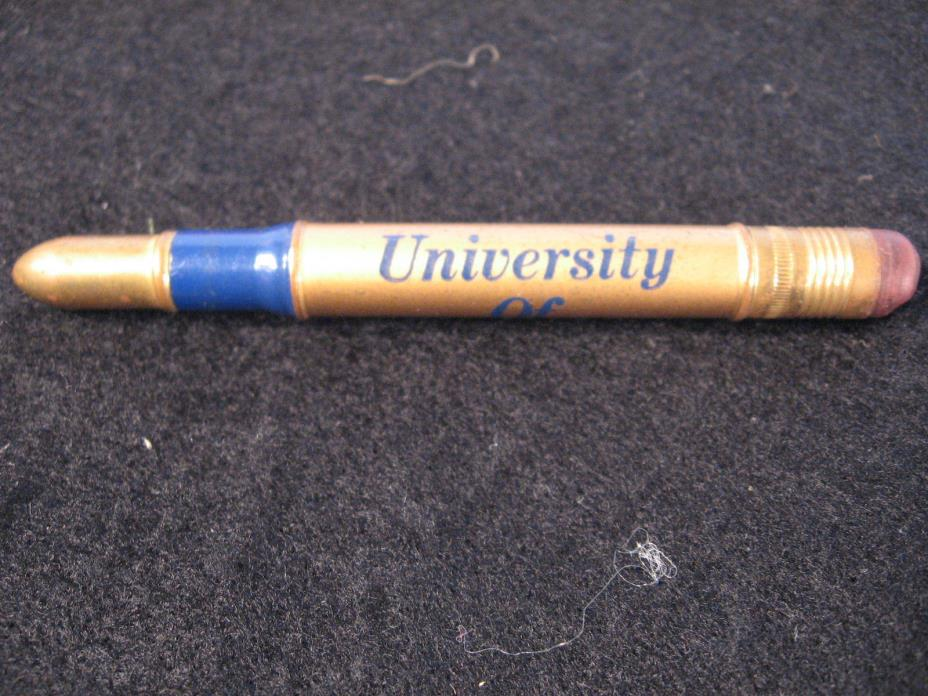 Vintage University Of Pittsburgh Bullet Advertising Pencil