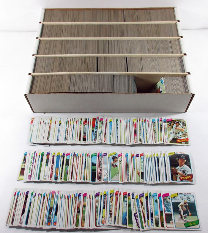 Lot of (5,000) 1980 Topps Baseball Cards Mostly Commons GOOD / NEAR MINT - Cond