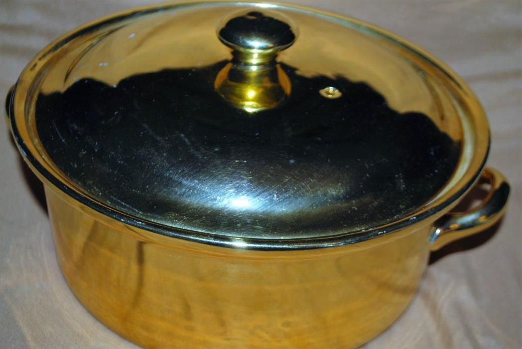 Hall China Golden Glo Carbone Ovenproof Casserole Dish W/Lid  8 1/2