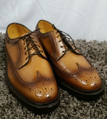 Vintage Florsheim Imperial Wingtips Dress Shoes Longwings 5 nail V-Cleat, sz 12C