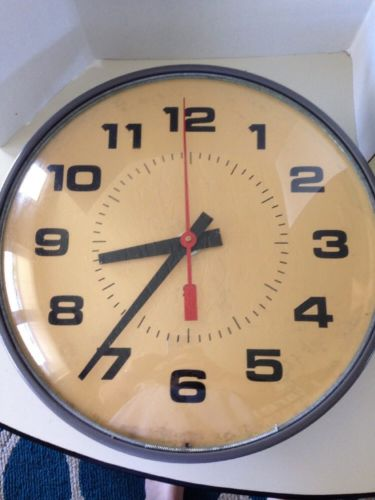 Vintage Industrial Wall Clock Retro School