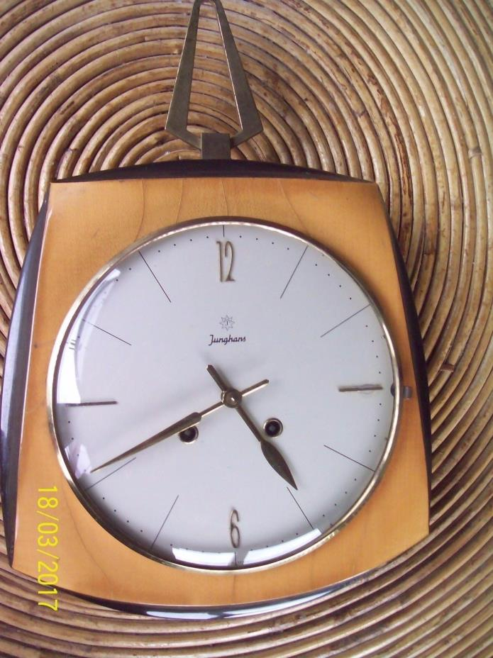 Vintage Junghans Wood Kitchen German Wall Clock Working Perfectly