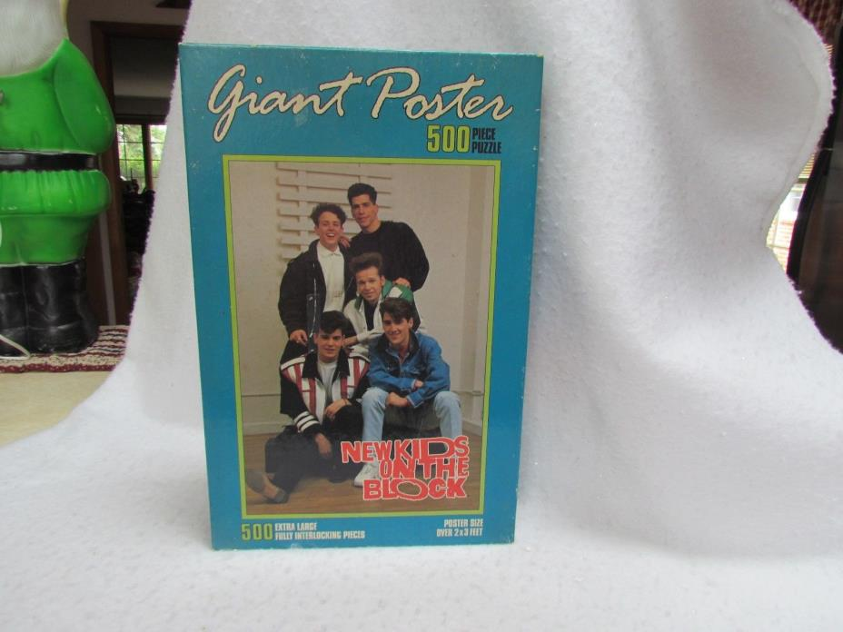 1990 Milton Bradley Giant Poster 500 Piece Jigsaw Puzzle:New Kids on the Block#1
