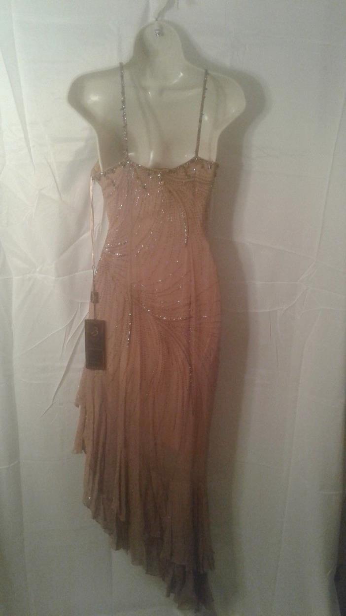 BEST LOOK Tan EVENING WEAR LADIES STUNNING DRESS size: 8