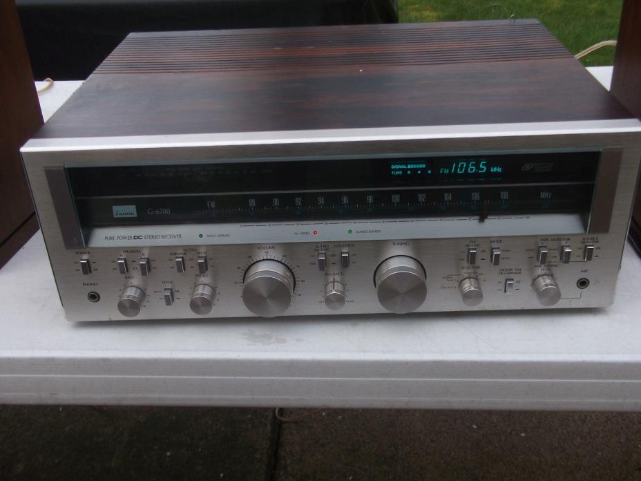 VINTAGE SANSUI G-6700 STEREO AM/FM RECEIVER AS/IS FOR RESTORATION READ