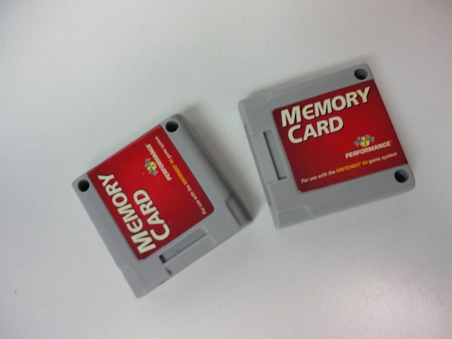 Memory Card Performance Brand Nintendo 64 N64--1x