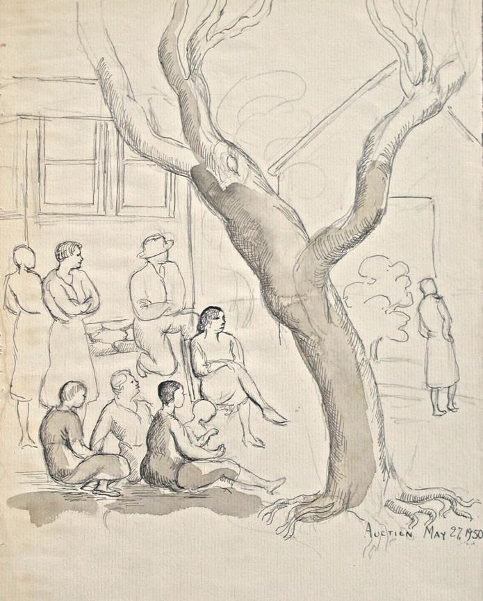 Dorothy Eaton Drawing (XXXIX) Study For Country Auction