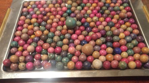 Antique lot of 200 + Clay Marbles WOW BEAUTIFUL COLLECTION