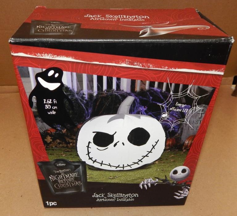Halloween Jack Skellington Airblown Inflatable LED Disney 2.6ft Tim Burton 124S