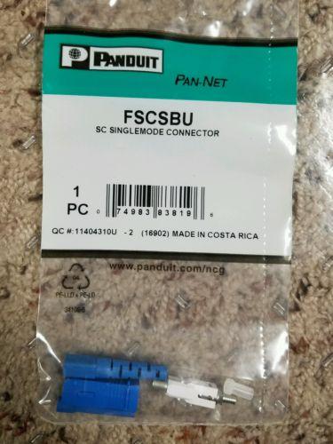 Panduit SC singleimode Fiber Optic Connector - New Box of 12 FREE SHIPPING