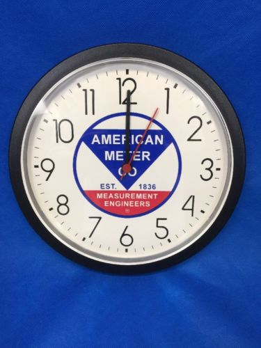 American Meter Co. Measurement Engineers Retro Vintage Sign Wall Clock