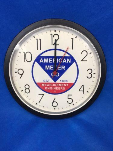 American Meter Co. Measurement Engineers Retro Vintage Sign Wall Clock