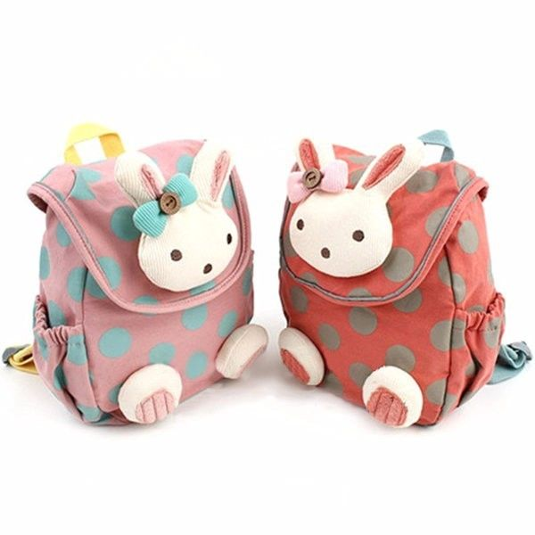 Kids Cartoon Cotton Backpack Walking Safety Harness Bag