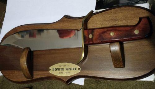 Vintage Western USA W49 Large Wood Handle Bowie Hunting Sheath Knife