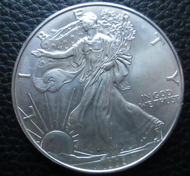 1996 BRILLIANT UNCIRCULATED  AMERICAN EAGLE SILVER DOLLAR -  #H1
