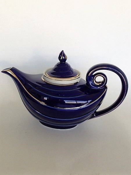 Aladdin Teapot Hall with infuser  0663R  Blue 6 Cup