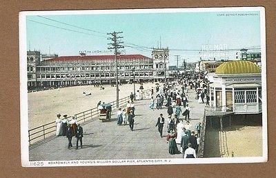 Atlantic City, NJ New Jersey, Boardwalk and Young's Million Dollar Pier Phostint